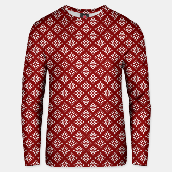 Thumbnail image of Dark Christmas Christmas Candy Apple Red with White Poinsettia Flowers Unisex sweater, Live Heroes