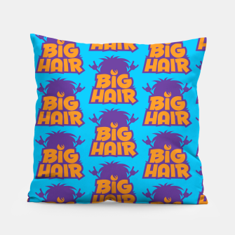Miniatur Big Hair Band Logo Pattern Pillow, Live Heroes
