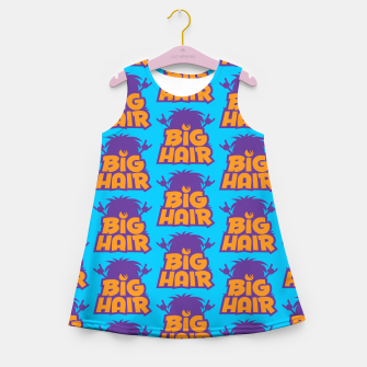 Miniatur Big Hair Band Logo Pattern Girl's summer dress, Live Heroes