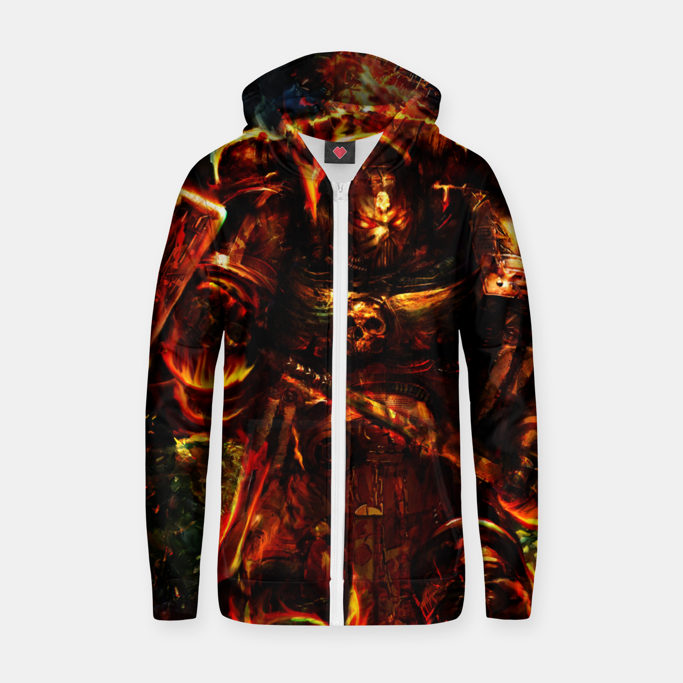 Image of warhammer Zip up hoodie - Live Heroes