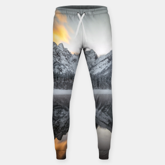 Thumbnail image of Sunset clouds over mountains at Lake Fusine, Italy Sweatpants, Live Heroes