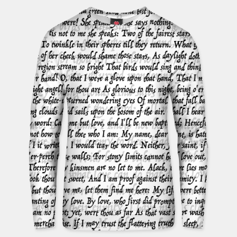 Love Letter Shakespeare Romeo & Juliet Pattern Unisex sweater Bild der Miniatur