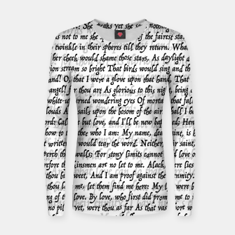 Love Letter Shakespeare Romeo & Juliet Pattern Women sweater Bild der Miniatur
