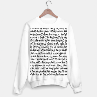 Love Letter Shakespeare Romeo & Juliet Pattern Sweater regular Bild der Miniatur