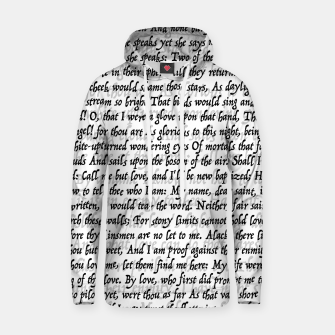 Love Letter Shakespeare Romeo & Juliet Pattern Hoodie thumbnail image