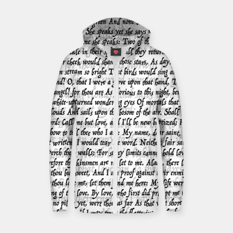 Love Letter Shakespeare Romeo & Juliet Pattern Zip up hoodie thumbnail image