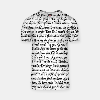 Love Letter Shakespeare Romeo & Juliet Pattern T-shirt thumbnail image