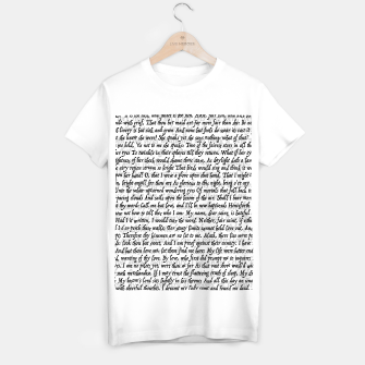 Love Letter Shakespeare Romeo & Juliet Pattern T-shirt regular Bild der Miniatur