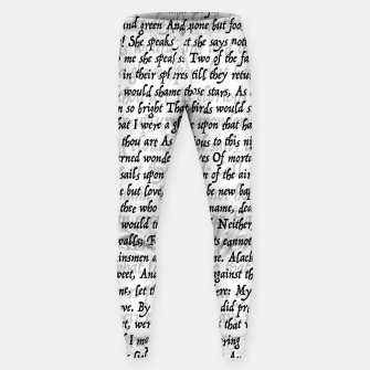 Love Letter Shakespeare Romeo & Juliet Pattern Sweatpants thumbnail image