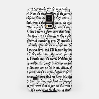 Love Letter Shakespeare Romeo & Juliet Pattern Samsung Case thumbnail image