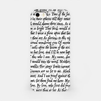 Love Letter Shakespeare Romeo & Juliet Pattern iPhone Case thumbnail image