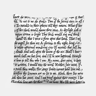 Thumbnail image of Love Letter Shakespeare Romeo & Juliet Pattern Pillow, Live Heroes