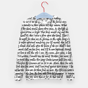 Miniatur Love Letter Shakespeare Romeo & Juliet Pattern Kid's sweater, Live Heroes