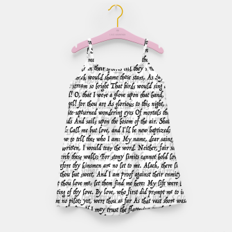 Miniatur Love Letter Shakespeare Romeo & Juliet Pattern Girl's dress, Live Heroes