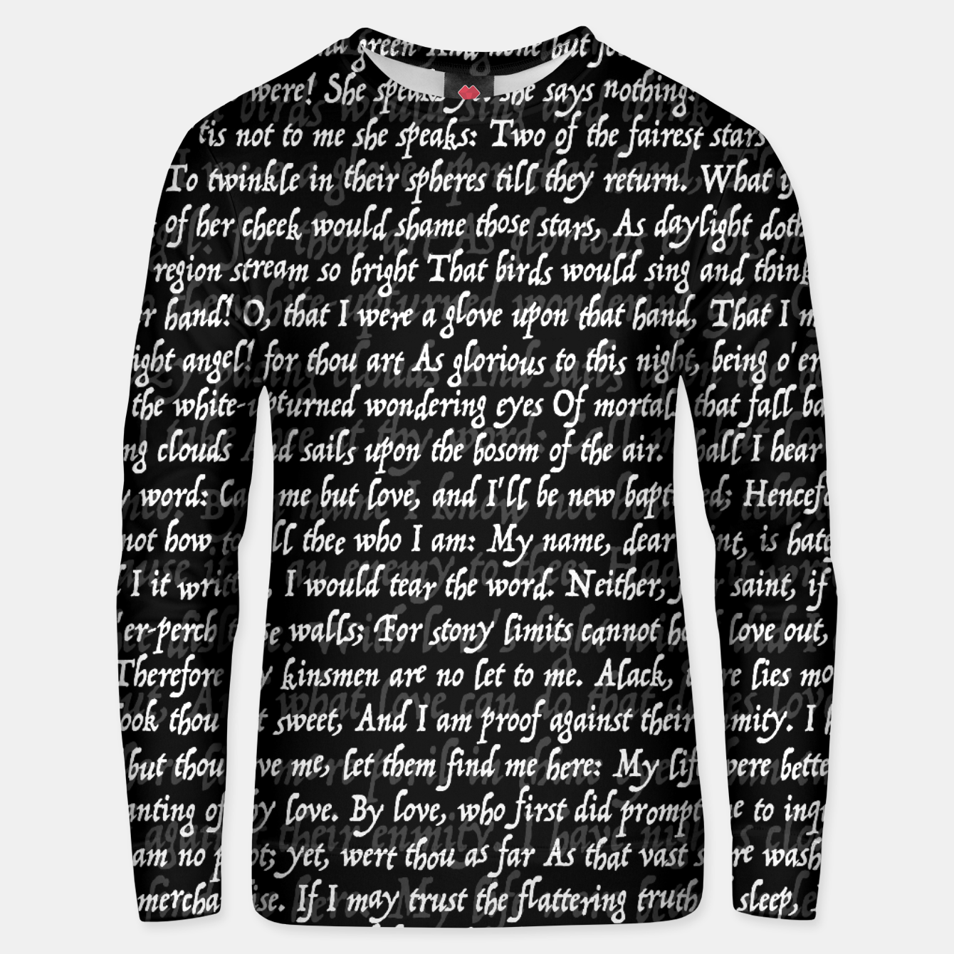 Image of Love Letter Shakespeare Romeo & Juliet Pattern II Unisex sweater - Live Heroes