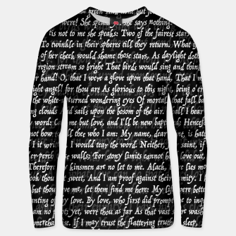 Thumbnail image of Love Letter Shakespeare Romeo & Juliet Pattern II Unisex sweater, Live Heroes