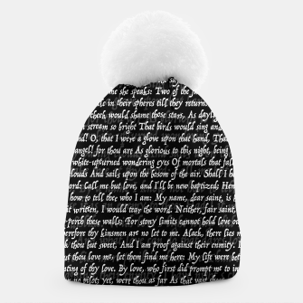 Thumbnail image of Love Letter Shakespeare Romeo & Juliet Pattern II Beanie, Live Heroes