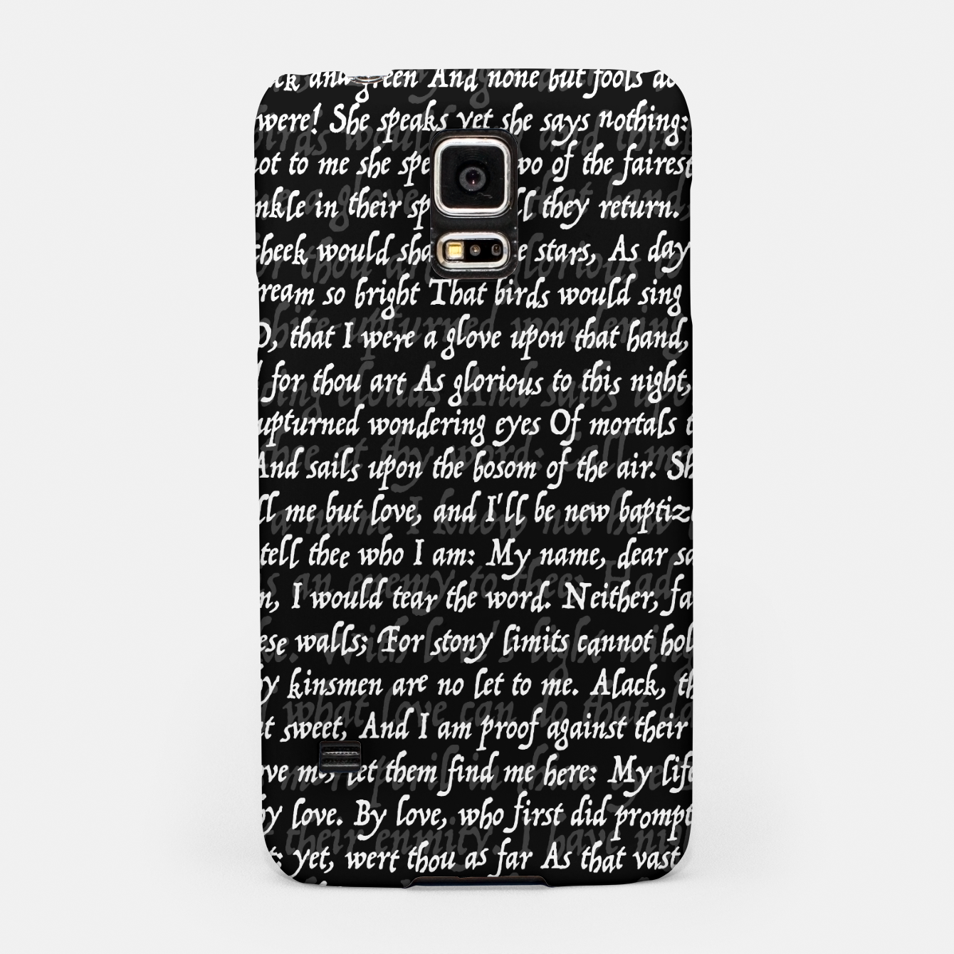 Image of Love Letter Shakespeare Romeo & Juliet Pattern II Samsung Case - Live Heroes