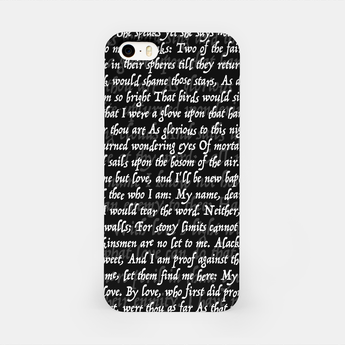 Image of Love Letter Shakespeare Romeo & Juliet Pattern II iPhone Case - Live Heroes
