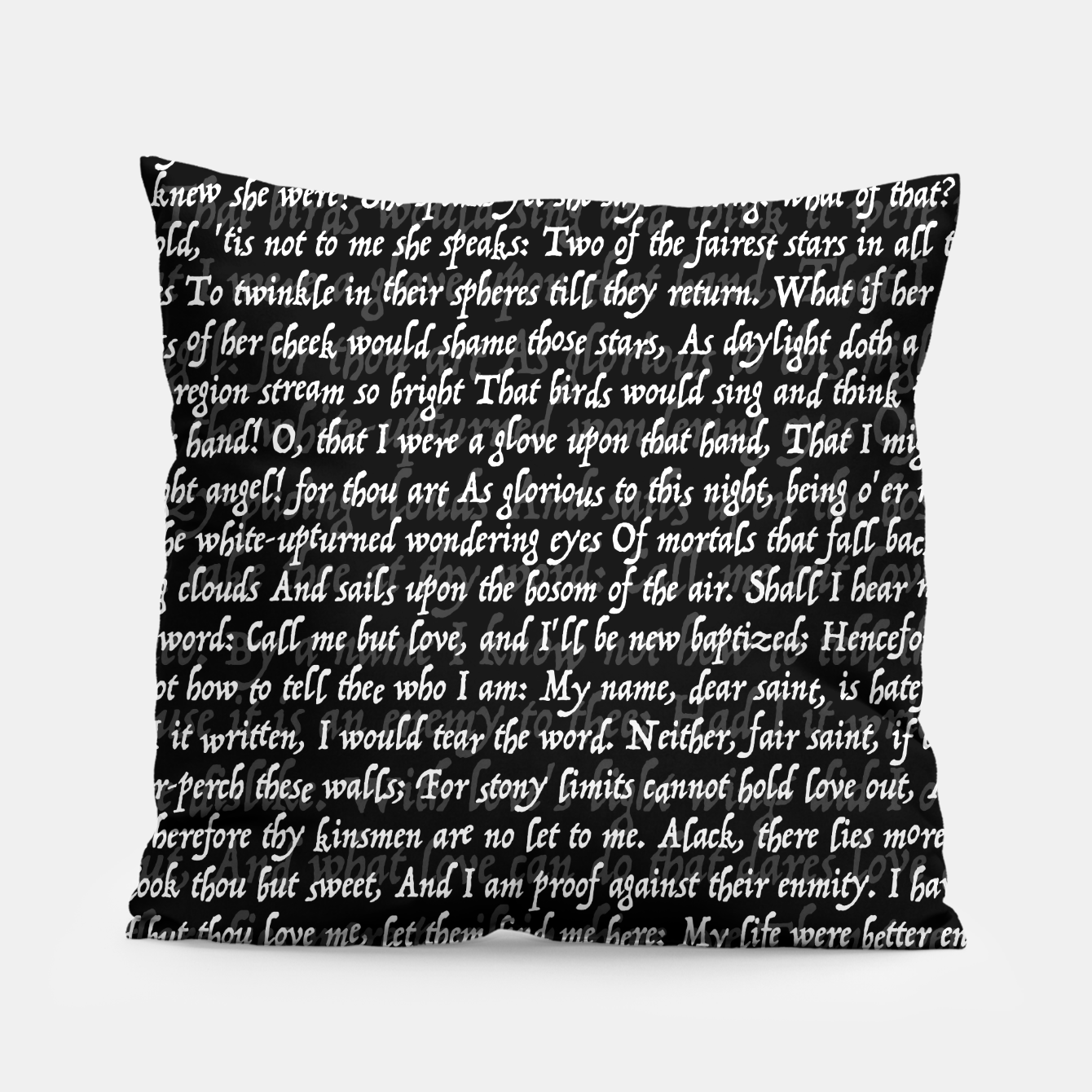 Image of Love Letter Shakespeare Romeo & Juliet Pattern II Pillow - Live Heroes