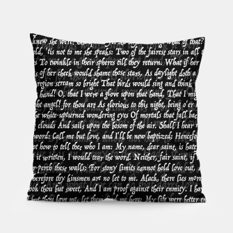 Love Letter Shakespeare Romeo & Juliet Pattern II Pillow Bild der Miniatur