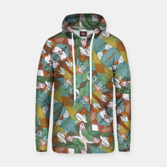 Thumbnail image of Collage motif abstract pattern mosaic in multicolored tones Hoodie, Live Heroes