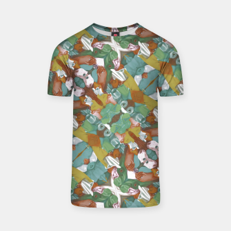 Miniaturka Collage motif abstract pattern mosaic in multicolored tones T-shirt, Live Heroes
