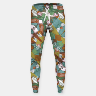 Thumbnail image of Collage motif abstract pattern mosaic in multicolored tones Sweatpants, Live Heroes