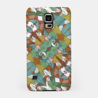 Thumbnail image of Collage motif abstract pattern mosaic in multicolored tones Samsung Case, Live Heroes