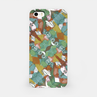 Thumbnail image of Collage motif abstract pattern mosaic in multicolored tones iPhone Case, Live Heroes
