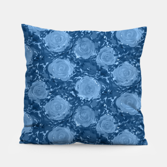 Thumbnail image of Frozen world of flowing roses Pillow, Live Heroes