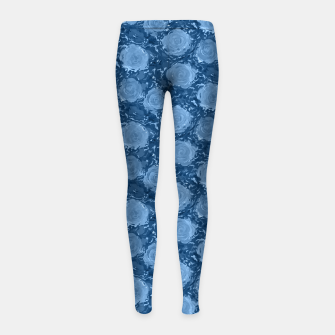 Thumbnail image of Frozen world of flowing roses Girl's leggings, Live Heroes