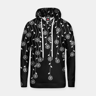 Thumbnail image of Hanging garden, floral design in black and white, nature print Hoodie, Live Heroes