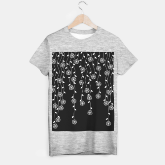 Thumbnail image of Hanging garden, floral design in black and white, nature print T-shirt regular, Live Heroes