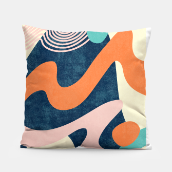 Thumbnail image of Retro Waves Pillow, Live Heroes