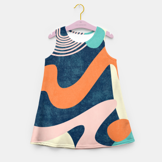 Thumbnail image of Retro Waves Girl's summer dress, Live Heroes