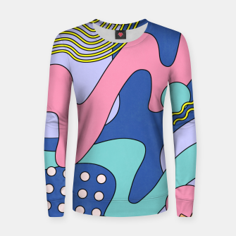 Thumbnail image of Retro Memphis Waves 03 Women sweater, Live Heroes