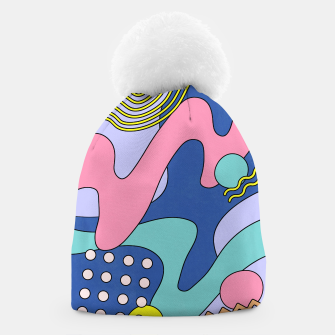 Thumbnail image of Retro Memphis Waves 03 Beanie, Live Heroes