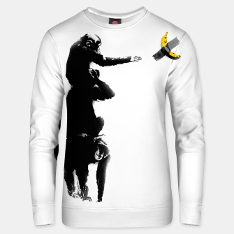 Thumbnail image of Chimpanzee and Banana Taped Unisex sweater, Live Heroes