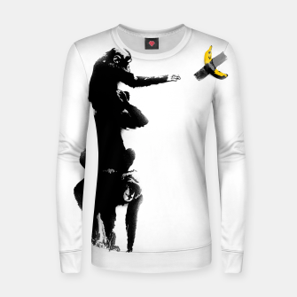 Thumbnail image of Chimpanzee and Banana Taped Women sweater, Live Heroes