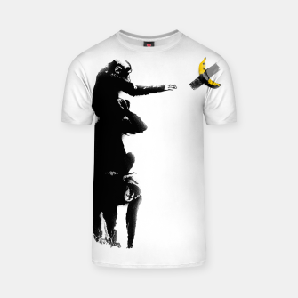 Thumbnail image of Chimpanzee and Banana Taped T-shirt, Live Heroes