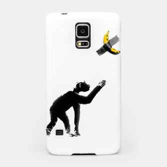 Thumbnail image of Chimpanzee and Banana Taped Samsung Case, Live Heroes