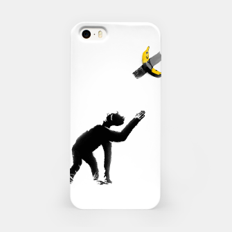 Thumbnail image of Chimpanzee and Banana Taped iPhone Case, Live Heroes