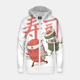 Thumbnail image of Sushi Warrior Zip up hoodie, Live Heroes
