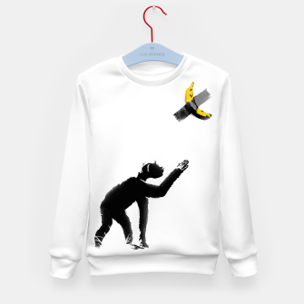Thumbnail image of Chimpanzee and Banana Taped Kid's sweater, Live Heroes