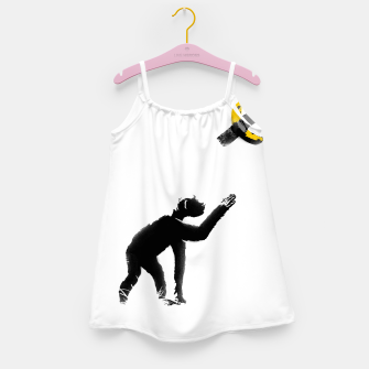 Thumbnail image of Chimpanzee and Banana Taped Girl's dress, Live Heroes