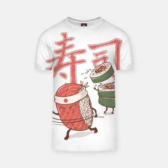 Thumbnail image of Sushi Warrior T-shirt, Live Heroes
