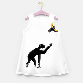 Thumbnail image of Chimpanzee and Banana Taped Girl's summer dress, Live Heroes