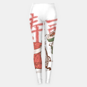 Thumbnail image of Sushi Warrior Leggings, Live Heroes