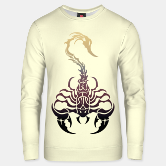 Thumbnail image of Scorpio, animal print, wild nature, scorpion, zodiac sign, celtic design Unisex sweater, Live Heroes
